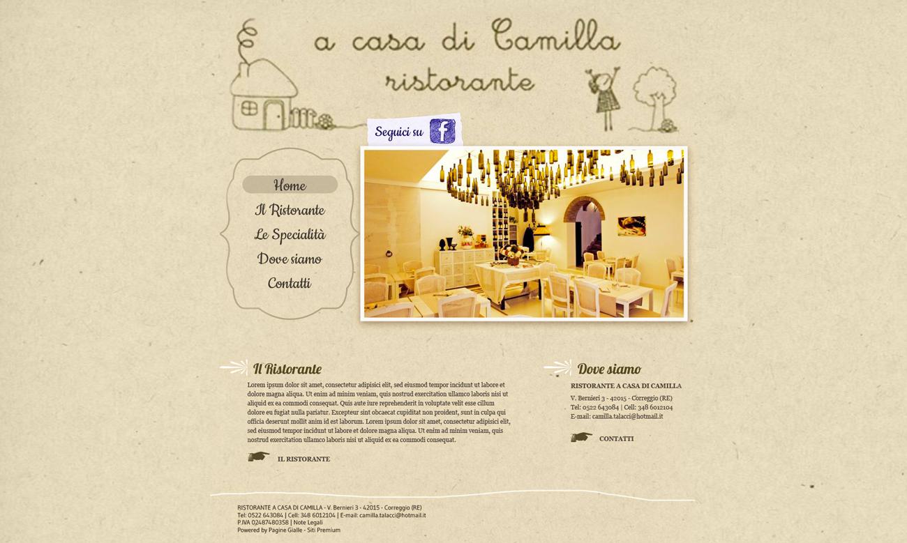 A casa di Camilla ristorante sito