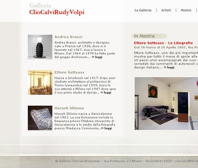 Galleria Clio Calvi Rudy Volpi sito