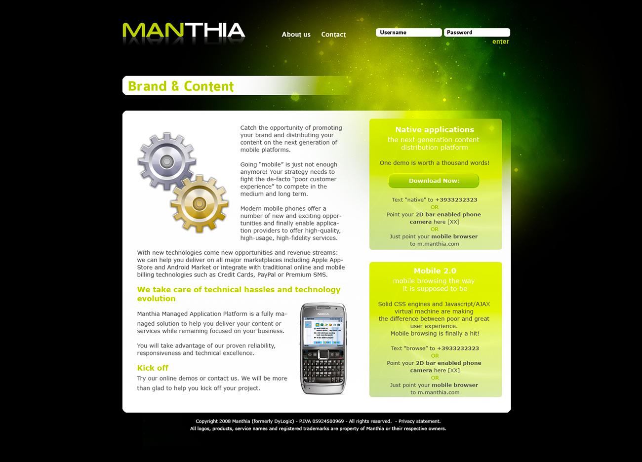 Manthia sito