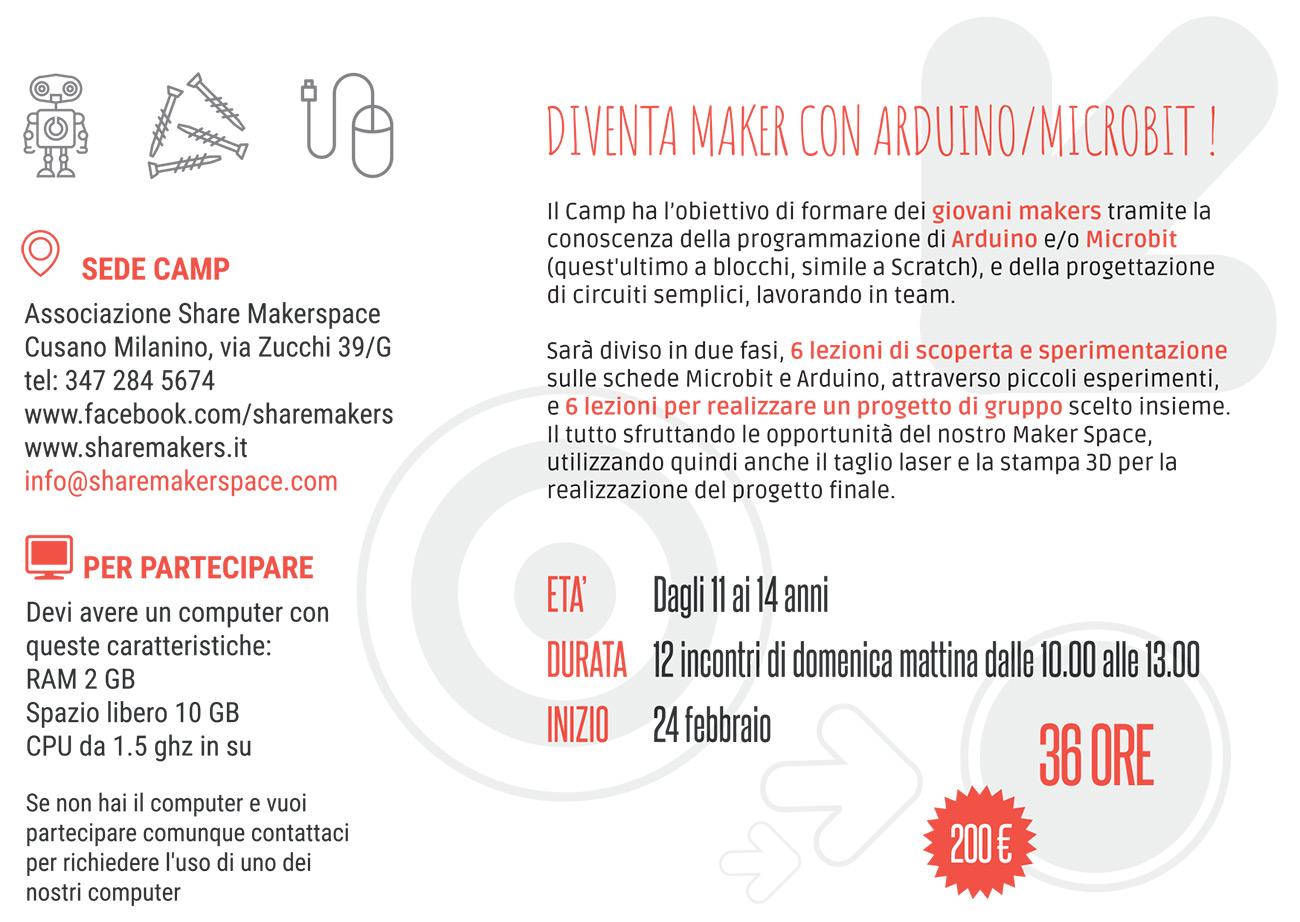 Share Makerspace cartolina