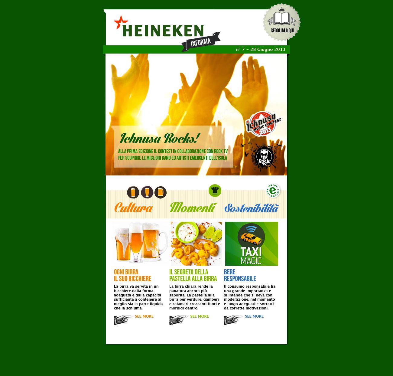 Heineken newsletter