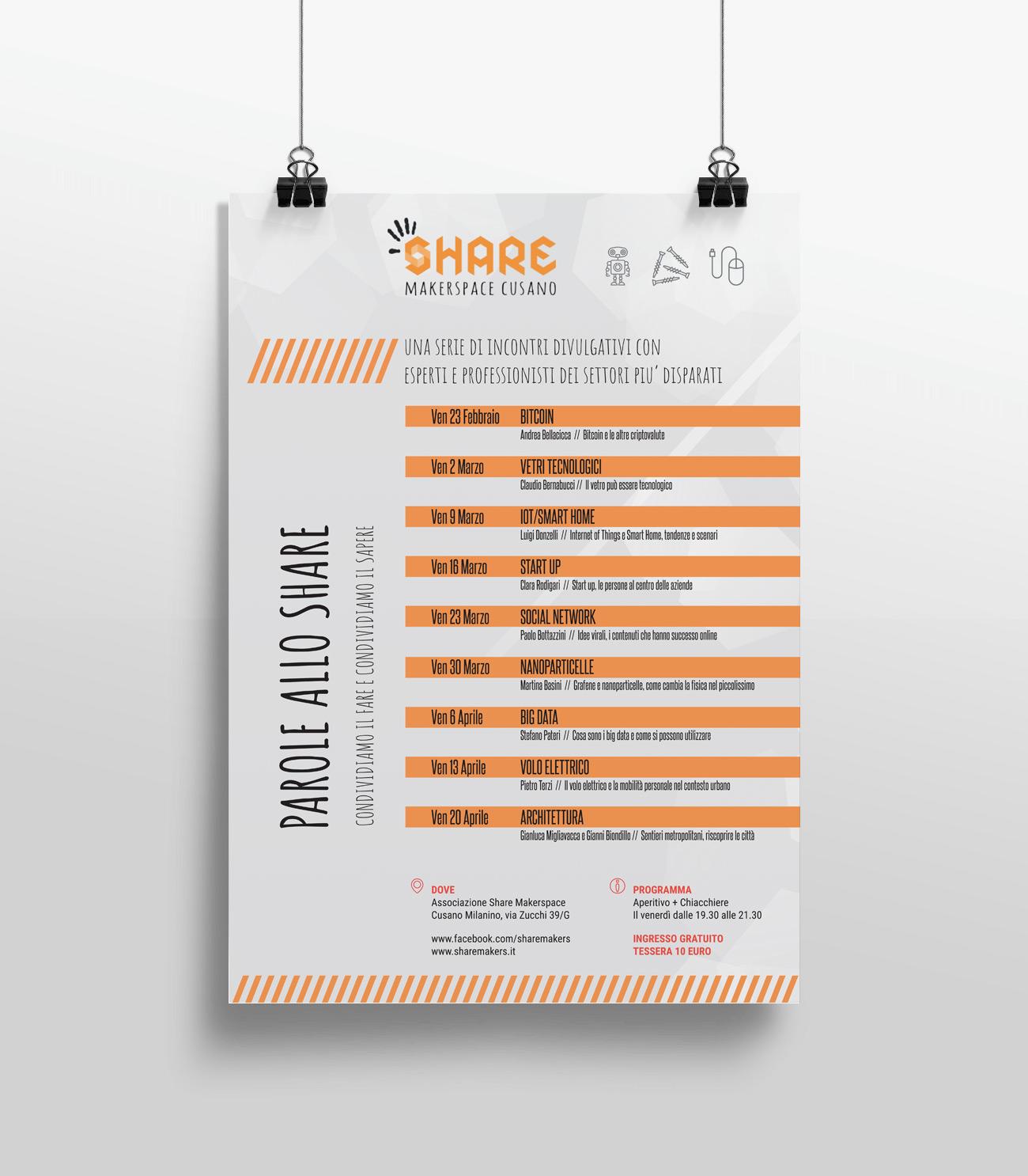 Share Makerspace locandina