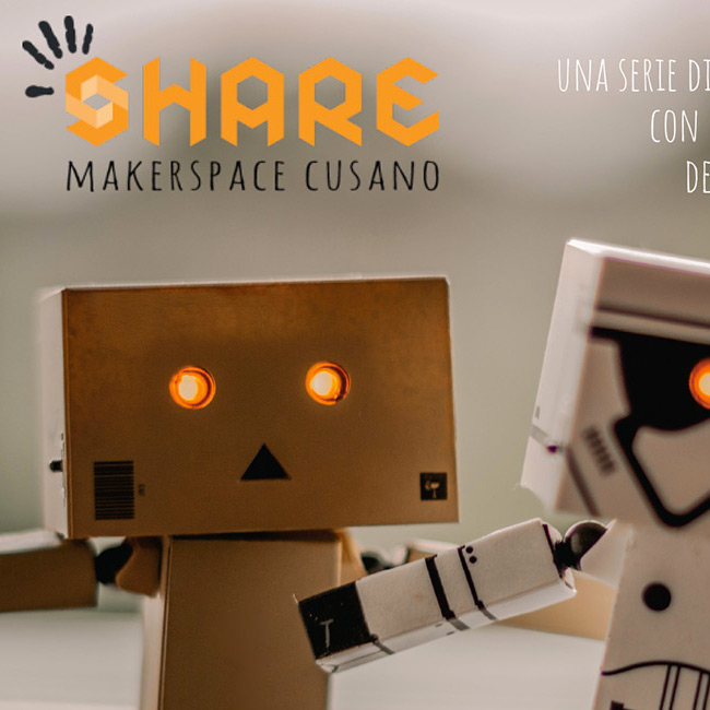 Share Makerspace cartolina